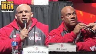 Big Ramy Vs Phil Heath At Heated Olympia 2017 Press Conference | Generation Iron