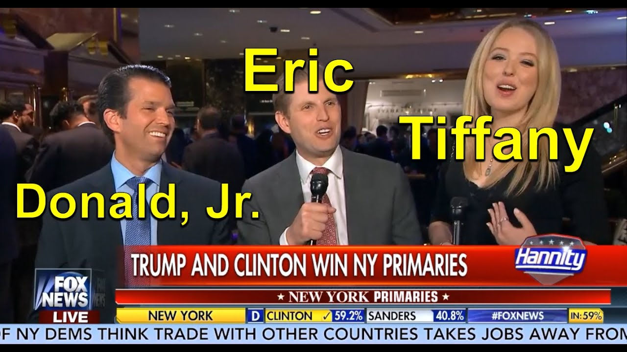 Trump Kids Celebrate New York Primary Victory! Donald, Jr., Eric, and ...