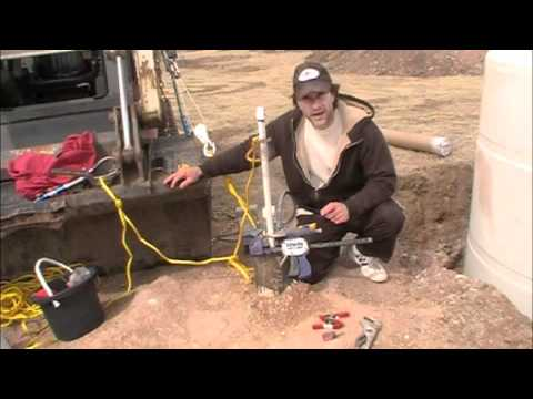 How to install a Cheap Foot Valve Water Pump In Well - YouTube