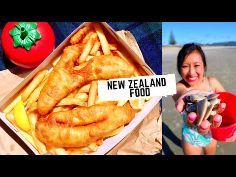 Giant NEW ZEALAND Food Tour | Best FISH & CHIPS In The World | FRESH Seafood