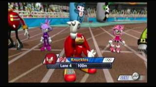 Mario and Sonic at the Olympic Games Athletics: 100 meters
