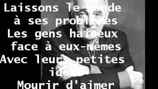 MOURIR D'AIMER DE CHARLES AZNAVOUR avec paroles  Présentée PAR KAIS REGAIEG.wmv