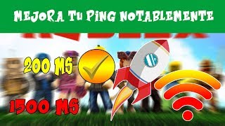 LOWER PING THE BEST METHOD 2018 FUNCTIONAL FOR ALL GAMES ROBLOX