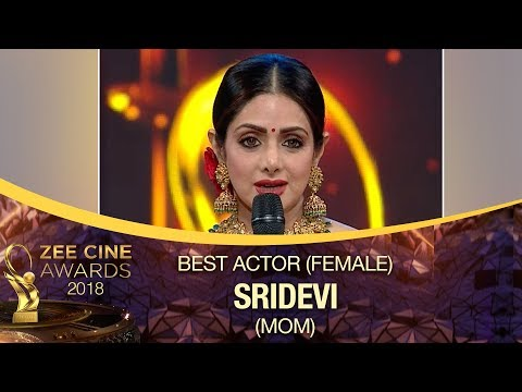 Sridevi WON Best Actress Award | MOM Movie | Zee Cine Awards 2018