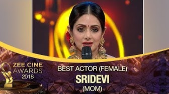 Sridevi WON Best Actress Award | MOM Movie | Zee Cine Awards 2018