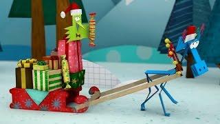 Бумажки - Новогодняя история - мультфильм для детей - поделки своими руками -