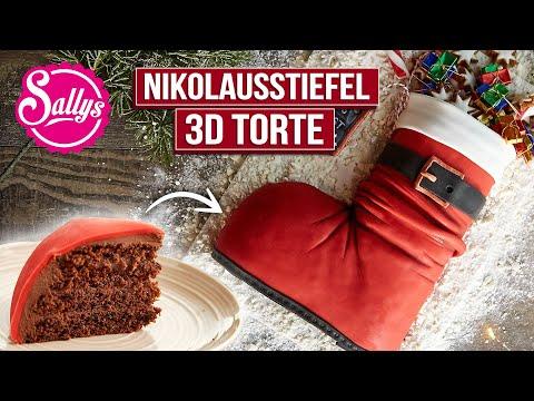 3D Weihnachtstorte // Weihnachtsstiefel // Nikolausstiefel