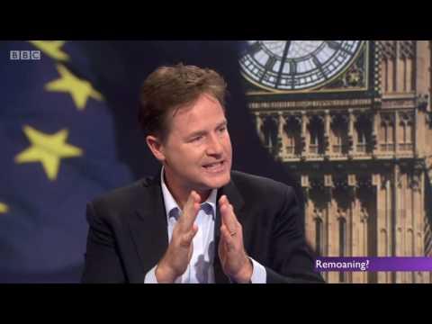 Post Brexit - Nick Clegg's Hypocrisy Regarding EU Single Market