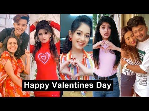Happy Valentine Day Tiktok Videos |  Awez, Nagma, Jannat, Riyaz, Arishfa, Avneet