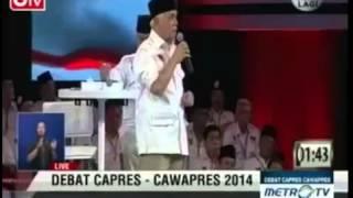 Hatta Rajasa Keliru Bertanya tentang kalpataru Debat Capres 5 Juli 2014