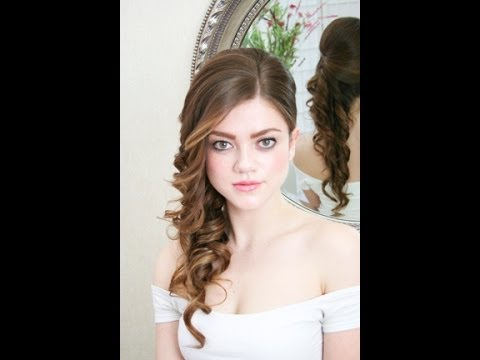 Bridal hairstyling video - side do - YouTube