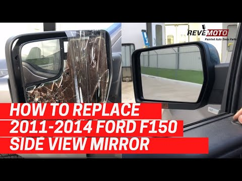 How to Replace a 2011-2014 Ford F150 Side View Mirror, DIY