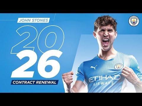 John Stones new contract |  Man City & England Defender sign until 2026!