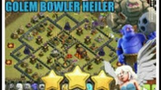 gobohe golem bowler heiler ck cw rh10 th10 vs rh10 th10 3 sterne coc clash of clans deutsch german