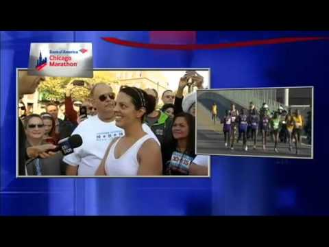 Couple get married DURING marathon, complete race