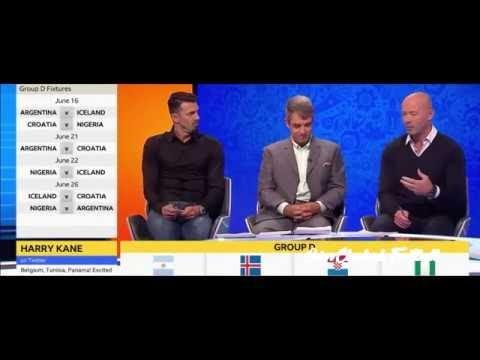 World Cup Draw 2018 Russia - w/ Alan Shearer & Jose Fonte - Pundits Reaction - 01/12/2017