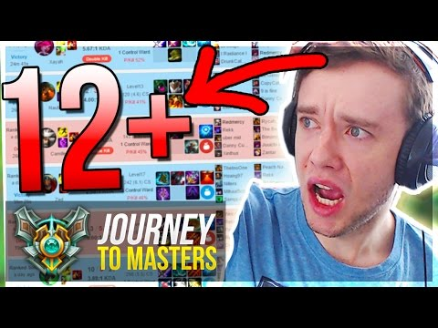 12 GAMES 1 EPISODE??.. IT FINALLY HAPPENED - Journey To Masters #44 S7 - League of Legends