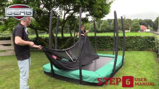 Montage-instructies BERG InGround EazyFit trampoline + veiligheidsnet
