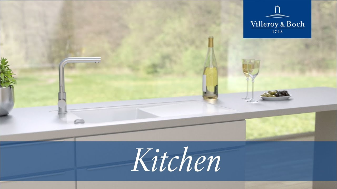 Installation flush-mounted kitchen sinks | Villeroy & Boch