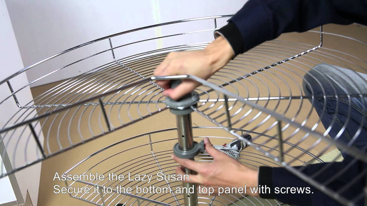 Base Lazy Susan Cabinet Assembly Guide (BLS36--TR270B) - YouTube