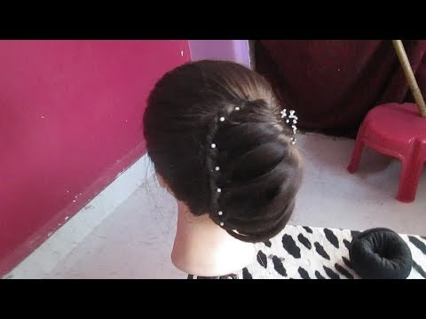 latest-party-twisted-bun-hairstyle#wedding-hairstyle-for-medium-hair#easy-hairstyle