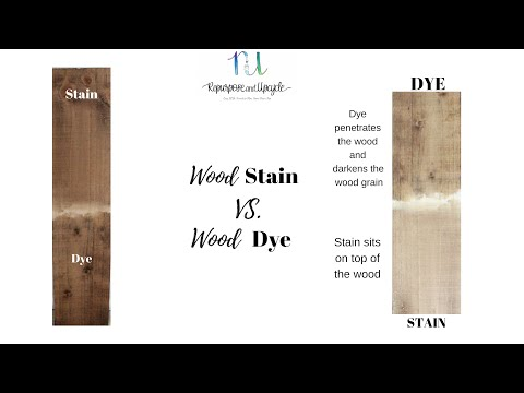 WOOD DYE vs. WOOD STAIN and what are the differences