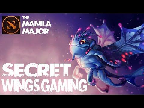 Dota 2 Manila Major - Team Secret vs The Wings Gaming - Game 3 - Secret All in PUCK