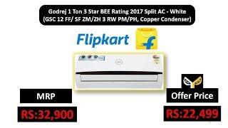 Godrej 1 Ton 3 Star BEE Rating 2017 Split AC - White (GSC 12 FF/ SF ZM/ZH 3 RW PM/PH)