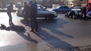На ул. Пузакова автомобиль сбил двух детей. Запись с видеорегистратора