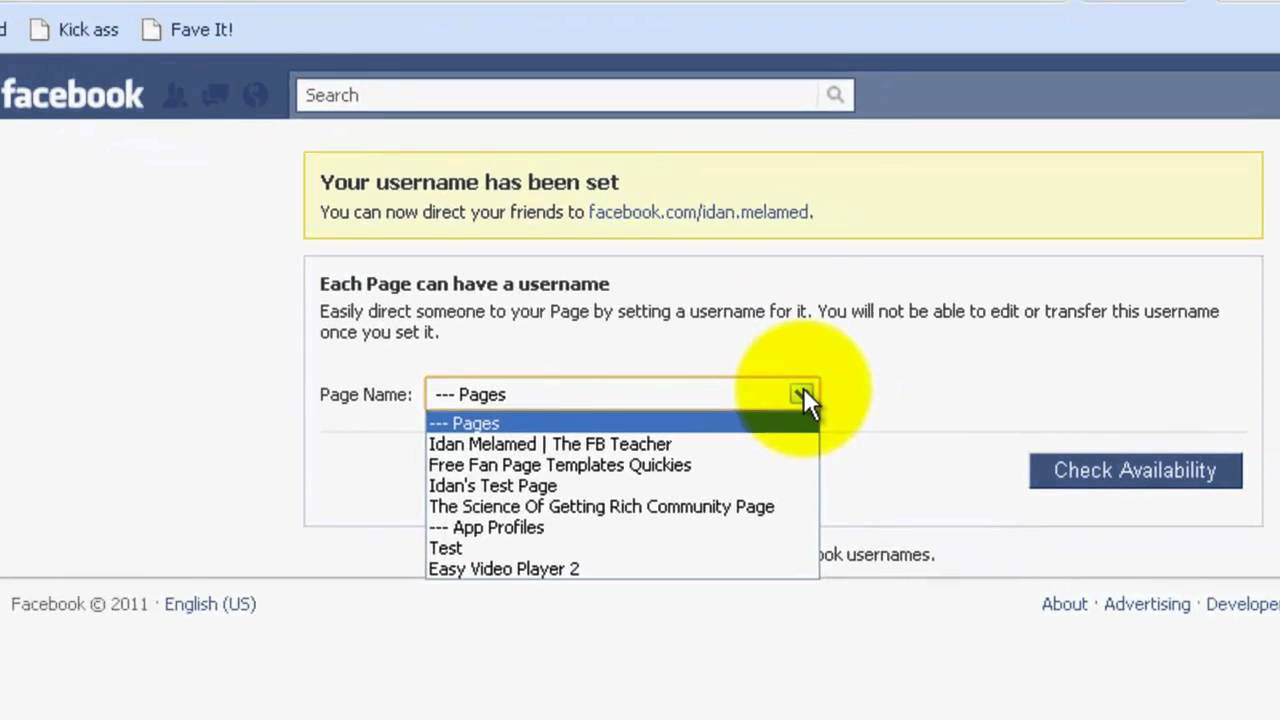 how to create a facebook url page