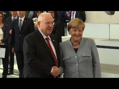 Angela Merkel meets Israeli President Reuven Rivlin