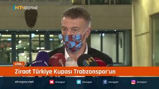 #CANLIYAYIN - Trabzonspor  Başkanı Ahmet Ağaoğlu açıklama yapıyor