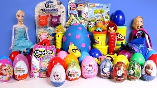 Frozen Giant Play Doh Egg Shopkins MLP Thomas Angry Birds Peppa Pig Surprise Eggs Toy Videos