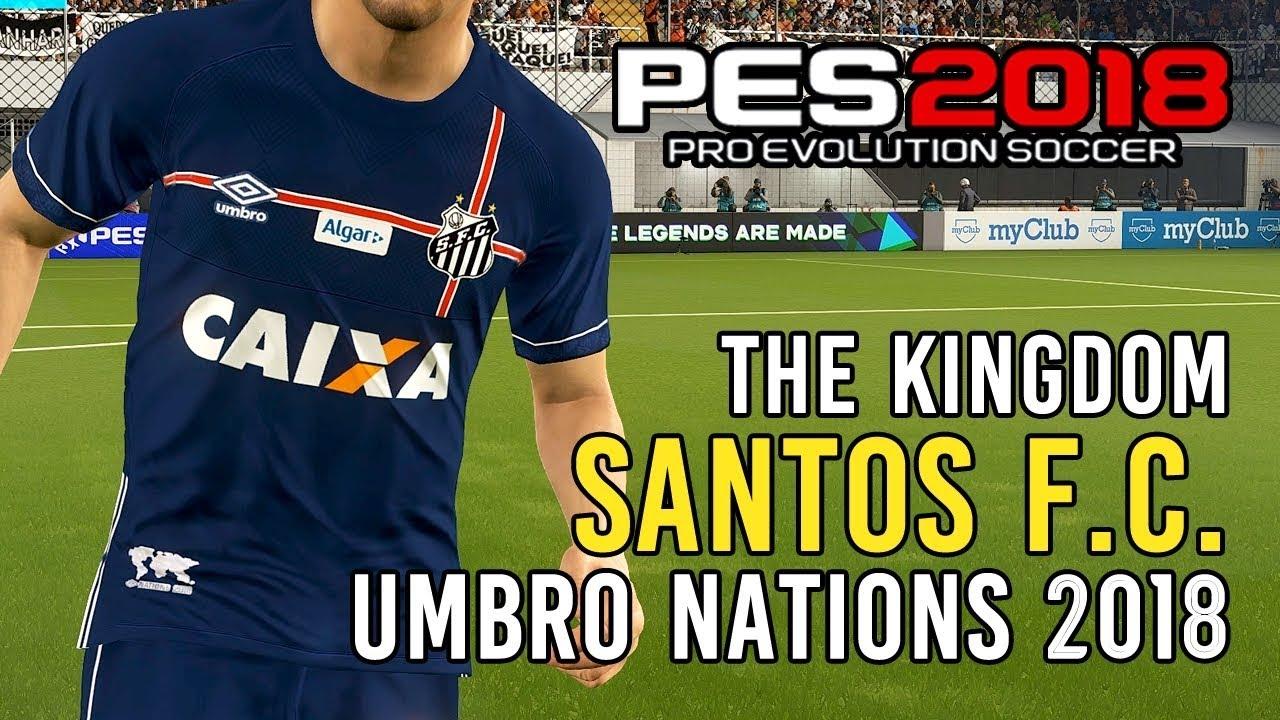 PES 2018  uniforme Umbro Nations do Santos!  download para PC e PS4 ... c08c6ff3fe9c4