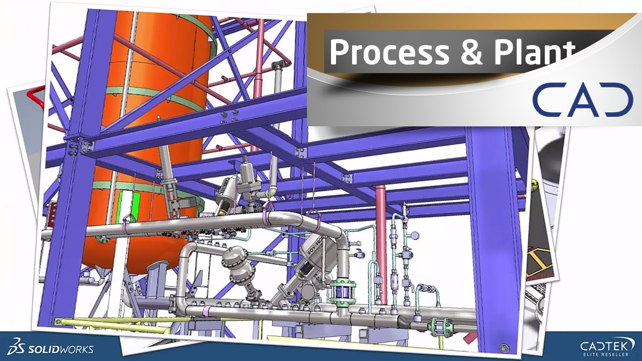 hight resolution of using solidworks for process and plant layout