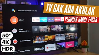 Smart TV 4K 50 Inch, Harga Mulai 3jt-an. COOCAA 50 inch 50S6G PRO  (Unboxing + Review)