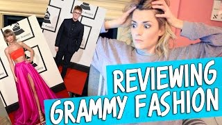 reviewing grammy fashion grace helbig