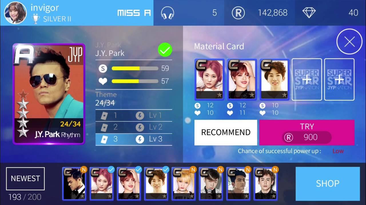 SuperStar JYPNation] JYP cards Upgrade *A5