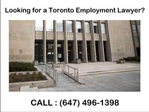 Wrongful Dismissal Lawyer Toronto | Toronto Employment Lawyer
