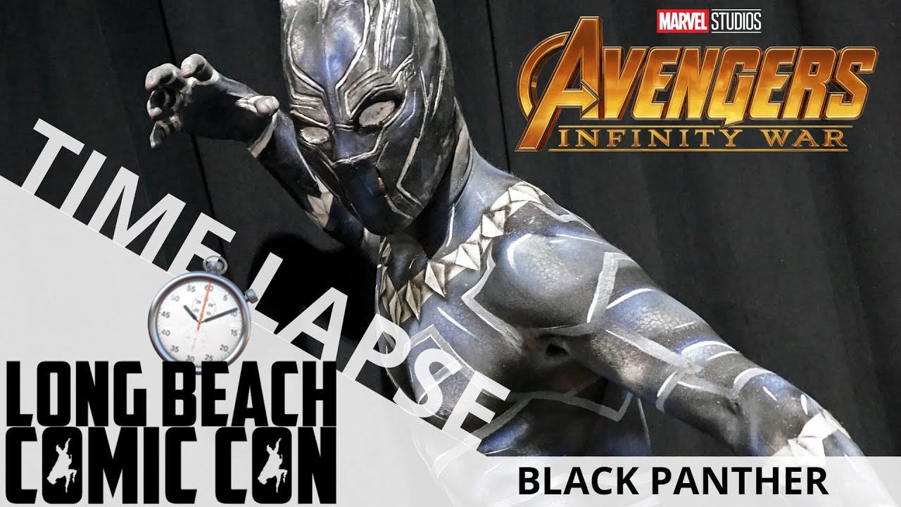 Black Panther (Time Lapse) | Long Beach Comic Con 2018 | EI Makeup School