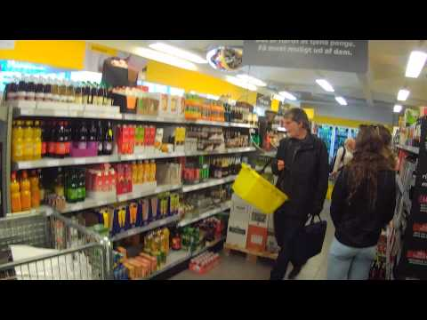 Danish Supermarket Netto in Copenhangen