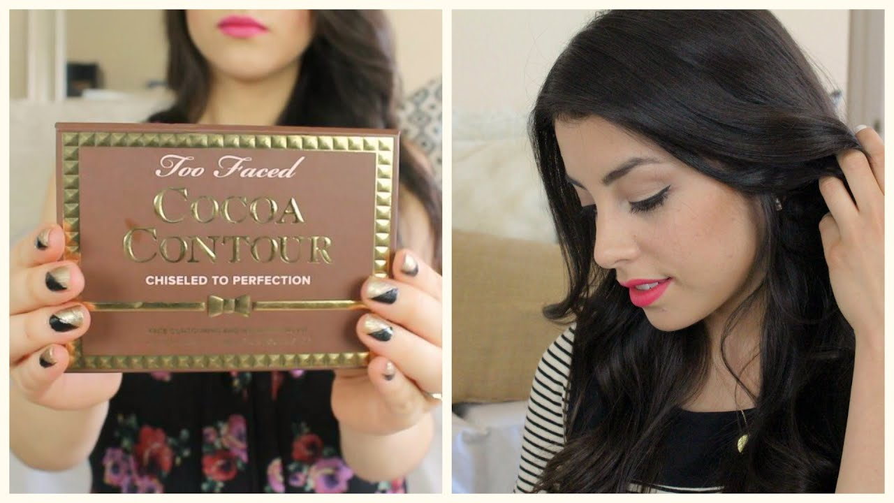 How To Contour W Too Faced Cocoa Contour Kit Review