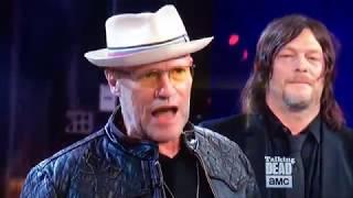 Merle Dixon ( Michael Rooker) Flicks Off Live TV Season 8 Premiere Reunion Hershel Greene Returns