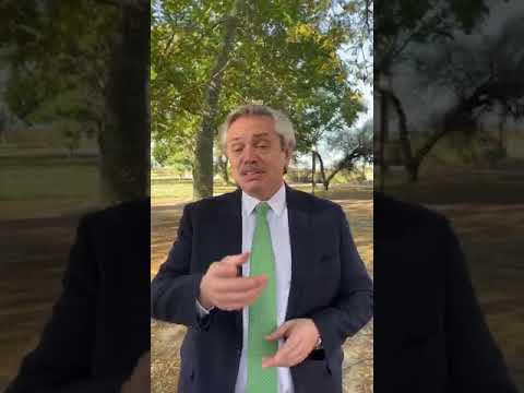 El Presidente Alberto Fernández suspendió su viaje a Catamarca y le dejo un mensaje.