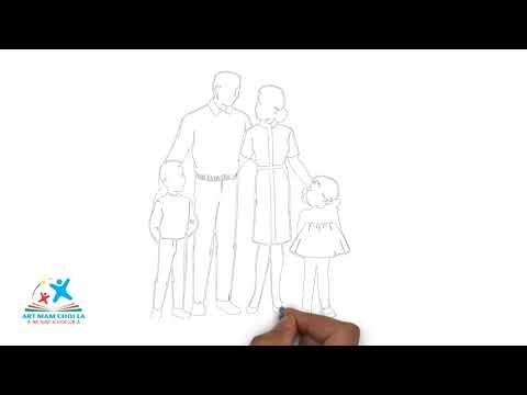 Vẽ tranh chủ đề Gia đình | How to draw family | Art Mam Choi La