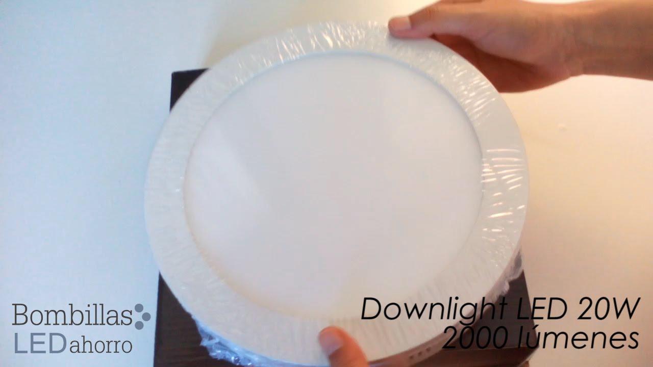 Downlight led circular de 20w y 2000 l menes youtube - Downlight led para cocina ...