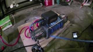 RUNVA EWP9000S. Электрическая автомобильная лебёдка.(Тест-драйв двускоростной лебёдки RUNVA EWP9000S. 28 метров за 35.9 секунд., 2013-06-09T15:17:19.000Z)