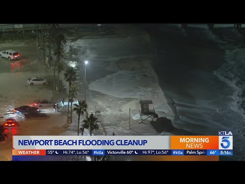 Newport Beach continues cleanup efforts after recent flooding