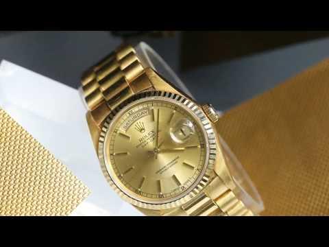 Rolex President 18k Gold Watch