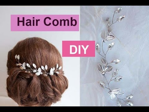 How to make bridal hair comb diy tutorial youtube.